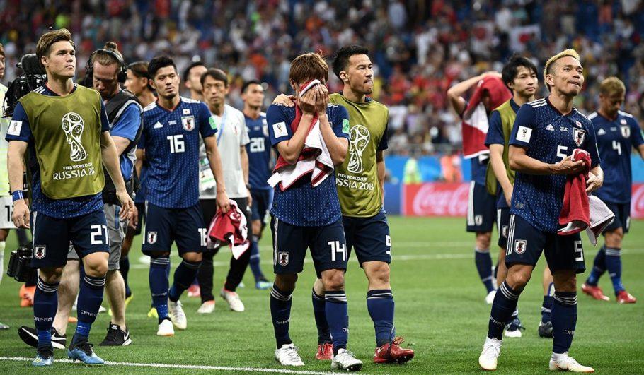 日本VSベルギー試合終了後の様子