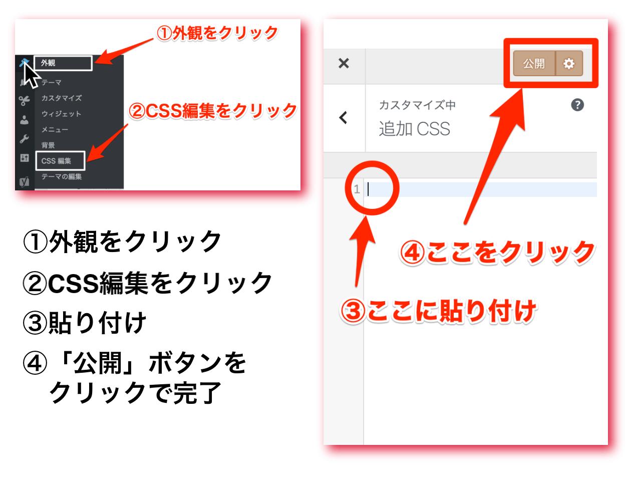 追加CSS設定方法